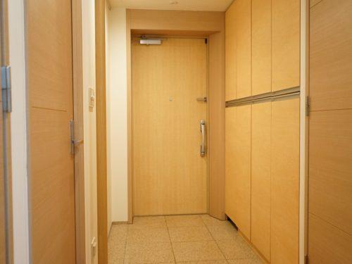 大理石玄関、大型シューズボックス付き(玄関)