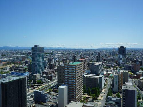 眺望、晴れた日には富士山がみれます