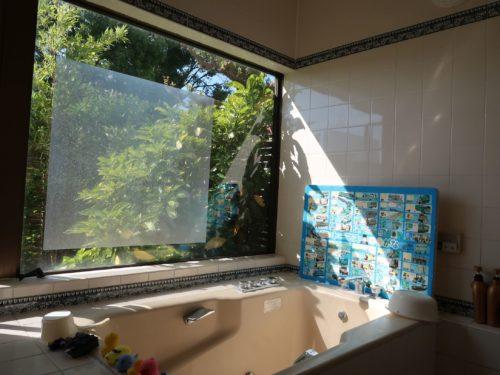 大きな一枚窓(風呂)