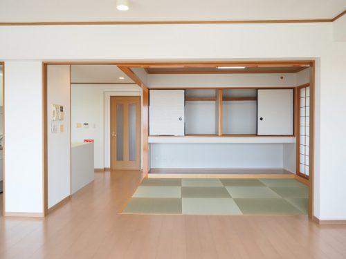 リフォーム済和室、琉球畳